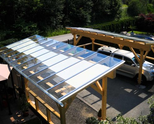 glasüberdachung carport